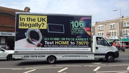 A van like this was driven through Brent
