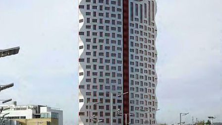 A computer generated image showing how the tower will appear
