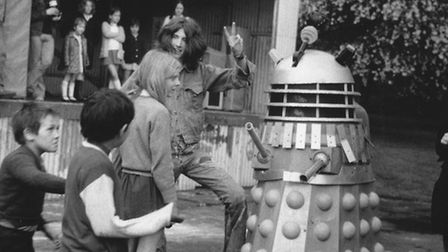 A Dalek at the Kingsgate Festival, an early version of the Kilburn Festival, in 1975