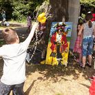Children enjoy the summer fair at The Convent of Jesus and Mary Catholic Infant School in Willesden