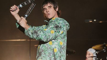 Ian Brown performing with The Stone Roses at V Festival last year. Picture: PA/Yui Mok.
