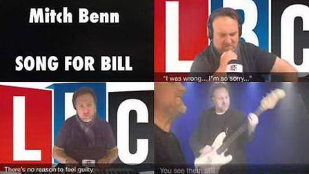 Mich Benn's 'Song for Bill' is now avaliable on YouTube. Picture: YouTube