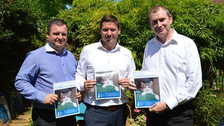 Tony Bunce, Kyle Clarke and Francis Henry from Daniels estate agents