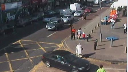 Police are keen to trace the occupants of this BMW1 Series convertible