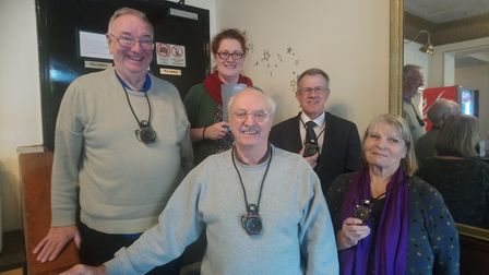 The Friends of Marina Theatre in Lowestoft with Emma Butler Smith, Marina Theatre chief executive. P