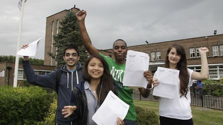 Usmaan Bhatti, Kai Page, Dwayne Counsell and Eni Sula from Preston Manor School