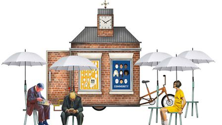 A roaming town square will be in Cricklewood from August 31 to September 28
