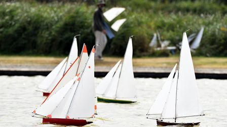 Southwold Model Yacht Club Annual Regatta at the Southwold Boating Lake.Picture: James Bass