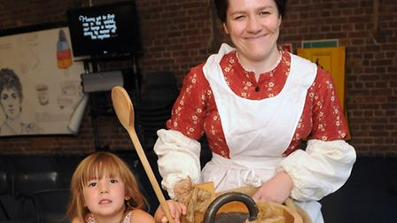 The Ice Cream Queen with Bibi Meautte Evans, 4, Pic: Dieter Perry