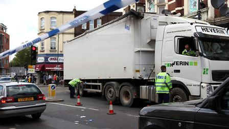 A man is in a critical condition following collision in Harlesden (pic credit: Jonathan Goldberg)