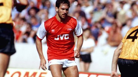 Kenny Sansom in action for Arsenal in 1983. Photo: Peter Robinson/EMPICS