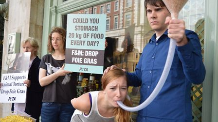 Nichola Rogers was 'force-fed' outside Fortnum and Masons