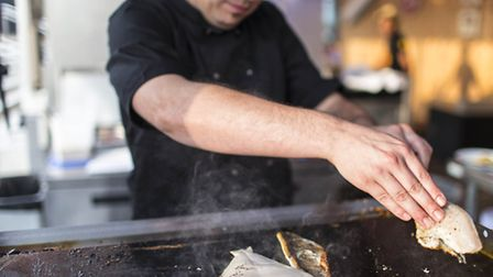 Freshly grilled and tasty fish on offer Pic: Stuart Leech