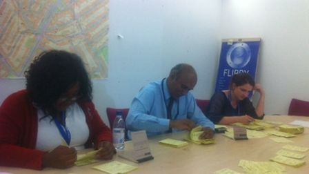 Volunteers examined Brent Police's stop and search slips