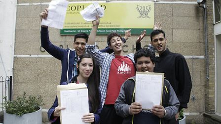 Some of Copland Community School A level students