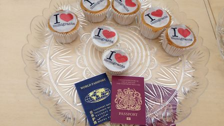Cupcakes were handed out in a UK Border Agency protest