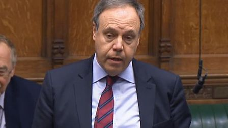 DUP's Nigel Dodds in the House of Commons. Photograph: Parliament TV.