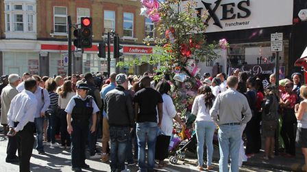 Family and friends of Sabrina Moss attended a vigil one week after her murder (Pic credit: Jonathan