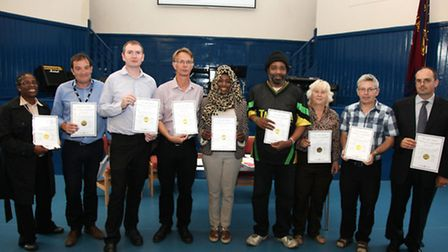 Harlesden Town Team presented certifcates of achievement to their supporters.