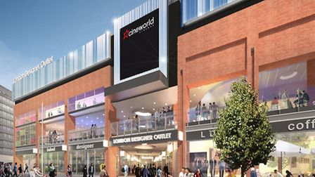Computer Generated Image of how the London Designer Outlet will look