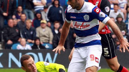 Charlie Austin had a goal chalked off against Swindon on Tuesday night