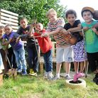 Children celebrated their adventure playground at Lumpy Hill park being protected under a new rule
