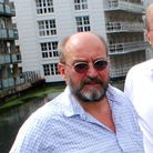 Ian Shacklock and Del Brennan at the bridge over the canal, near Hampstead Road Lock in Camden Town.