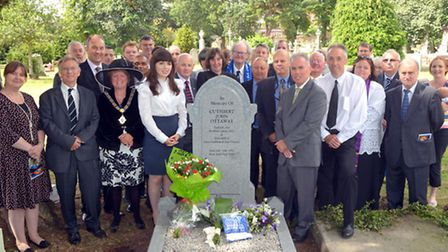 A new memorial has been unveiled to Cuthbert Ottaway at Paddington Old Cemetery (pic credit: John Ar