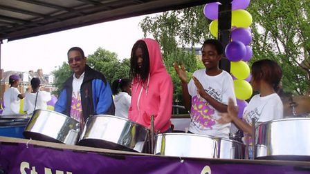 St Michael and All Angels Steel Band performing at the Notting Hill Carnival