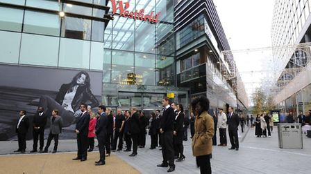 The gang made a failed smash and grab bid on a jewellers in Westfield Stratford Pic: Rebecca Naden