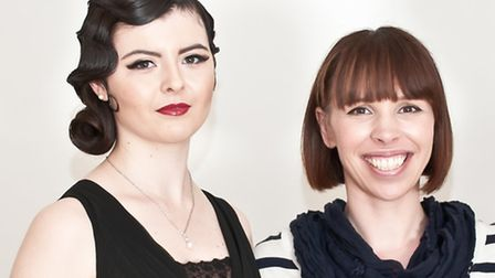 Deborah Keogh, right, with one of her models (pic credit: Maani photo)