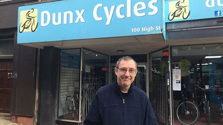 Duncan Adams, who owns Dunx Cycles in High Street, Lowestoft, has revealed the struggles facing inde