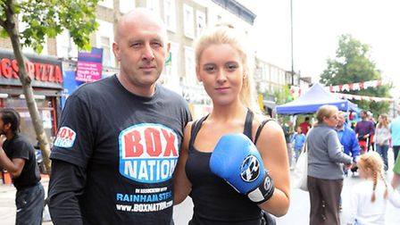 Boxing coach Dave Streatfield with Daughter Brogan, 15 Pic: Dieter Perry