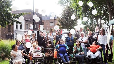 The Disability Action in Islington street party Pic: Dieter Perry