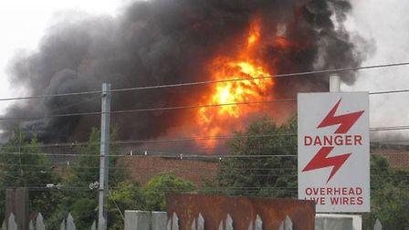 The fire ripped through an industrial unit in Park Royal (pic credit: Colin George)