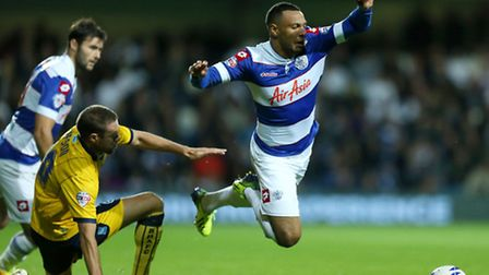Matt Phillips (right) in action in the recent clash with Brighton & Hove Albion