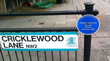 Fake 'blue plaque' has been erected in Cricklewood