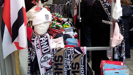 The Dukes were fined for selling counterfeit scarves to American football fans