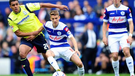 Tom Carroll (centre) made his QPR debut against Birmingham City on Saturday afternoon
