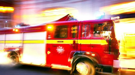 Firefighters were called to a blaze in Cricklewood today