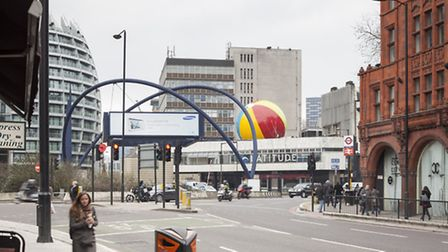 The beachball after its installation in March