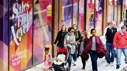 The London Designer Outlet offers up to 70 per cent of retail prices (Pic credit: Oliver Dixon)