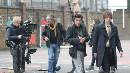 James Lance and Spencer Brown on the set of The Devil Went Down To Islington