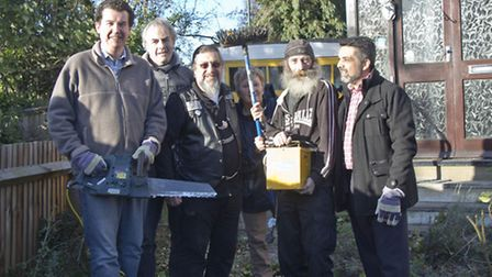 Residents rallied around to help Gladys Park, far right Cllr Mohammed Butt (pic credit: Tramp)