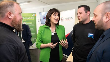 Energy minister Claire Perry visited Lowestoft to launch to a £250m deal for the offshore wind secto