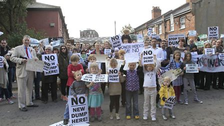 Campaigners are against plans to install an incinerator in Harlesden (Pic credit: Jan Nevill)
