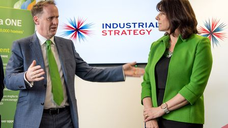 Energy minister Claire Perry pictured with CEO of ScottishPower Keith Anderson. Picture: Rob Howarth