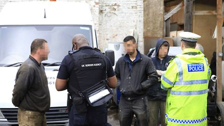 Two men were arrested during a police raid in Harlesden. Picture credit: Jan Nevill