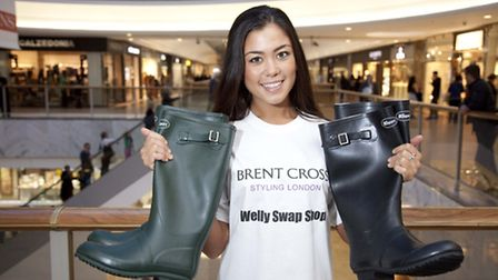 A welly swap shop will be in Brent Cross Shopping Centre for one day