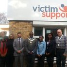 Members of Brent's Victim Support branch with the borough's mayor, Clllr Bobby Thomas.